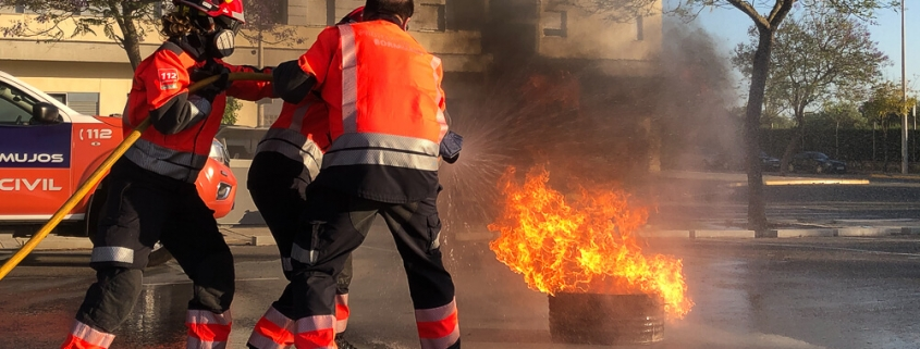 Extinción de Incendios Emergencias Sevilla Protección Civil Bormujos